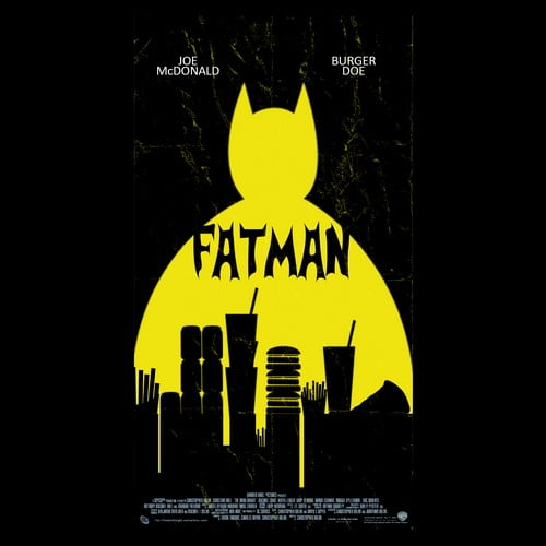 Fatman illustrations by oldtee.com