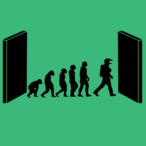 Evoluition by Kubrick illustrations by oldtee.com