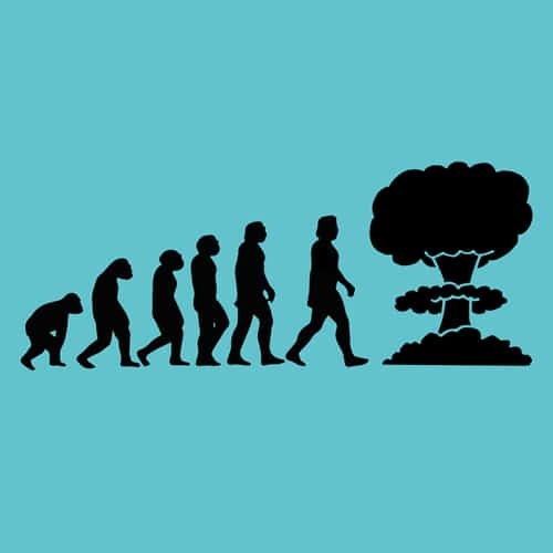 Evolution will end illustrations by oldtee.com