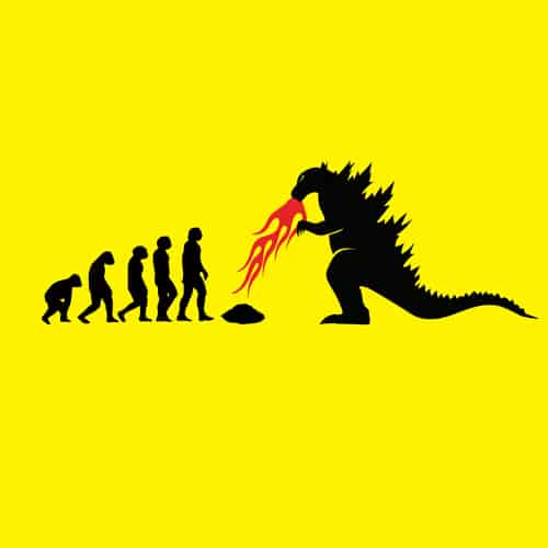 Oldtee.com illustrations Godzilla