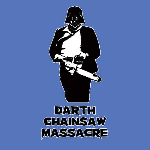 Darth Chainsaw Massacre illustrations by oldtee.com