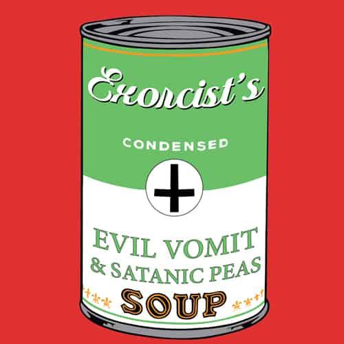 Exorcist's soup illustration by oldtee.com